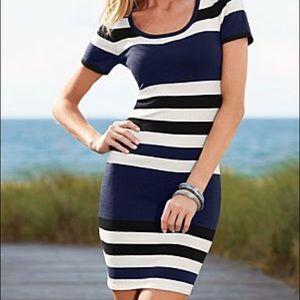 🌟VENUS Light Navy Striped Sweater Dress 👗